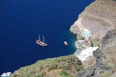 Vista de Fira Santorini Fotos de archivo libres de regalías