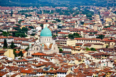 Vista de Firenze da abóbada Fotos de Stock Royalty Free