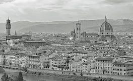 Vista de Florença em Itália com efeito do sepia imagem de stock