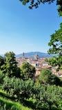 Vista de Florença, Itália, de um jardim da cume fotos de stock