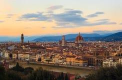 Vista de Florencia Imagenes de archivo