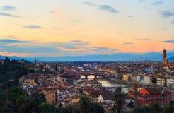 Vista de Florencia Fotos de archivo libres de regalías
