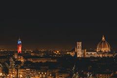 Vista de Florencia durante la noche fotos de archivo libres de regalías