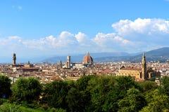 Vista de Florencia de Piazzale Miguel Ángel, Florencia, Italia imagenes de archivo