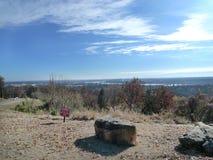 Vista de Fort Smith, Arkansas de Van Buren, AR Imágenes de archivo libres de regalías