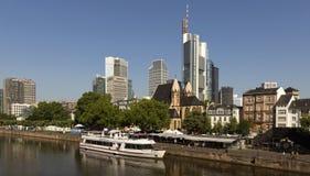 Vista de Frankfurt-am-Main, Alemania Foto de archivo libre de regalías
