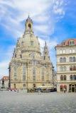Vista de Frauenkirche de Neumarkt en Dresden fotografía de archivo