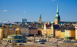 Vista de Gamla Stan, Estocolmo Foto de archivo libre de regalías