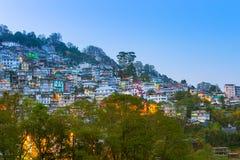 Vista de Gangtok el capital de Sikkim, la India Imágenes de archivo libres de regalías