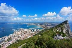 Vista de Gibraltar Imagen de archivo libre de regalías