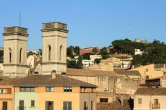 Vista de Girona Imágenes de archivo libres de regalías