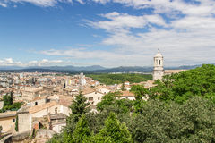 Vista de Girona Fotos de Stock Royalty Free