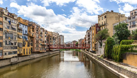 Vista de Girona Imagen de archivo