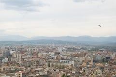 Vista de Girona fotos de archivo libres de regalías
