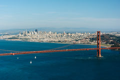 Vista de golden gate bridge de Hawk Hill, Fotografia de Stock