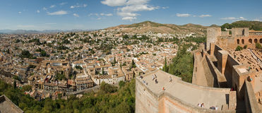 Vista de Granada imagem de stock