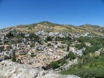 Vista de Granada de Alhambra Fotografia de Stock