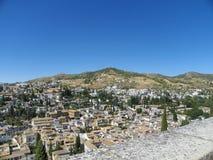 Vista de Granada de Alhambra Imagens de Stock Royalty Free