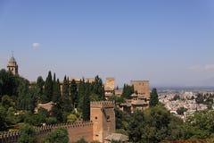 Vista de Granada, España Imagen de archivo libre de regalías