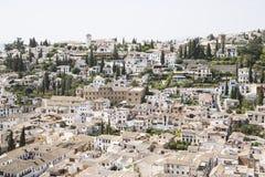 Vista de Granada fotos de archivo libres de regalías
