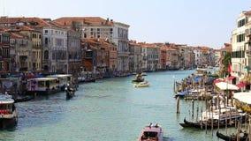 Vista de Grand Canal em Veneza video estoque