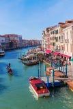 Vista de Grand Canal en Venecia, Italia Foto de archivo libre de regalías