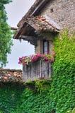 Vista de Grazzano Visconti. Emilia-Romagna. Itália. Foto de Stock