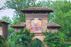 Vista de Grazzano Visconti. Emilia-Romagna. Itália. Fotografia de Stock