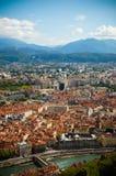 Vista de Grenoble Fotografía de archivo