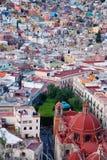 Vista de Guanajuato, México fotos de stock royalty free