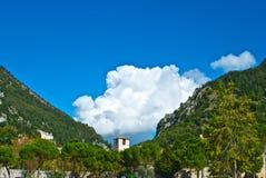 Vista de Gubbio - Perugia Imagen de archivo libre de regalías