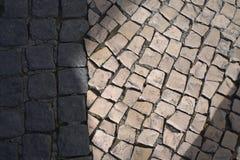 Vista de guijarros agudamente que ponen en contraste, Lisboa imagen de archivo libre de regalías