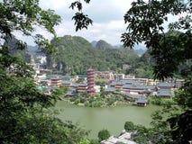 Vista de Guilin, China Imágenes de archivo libres de regalías