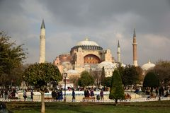 Vista de Hagia Sophia, Estambul, Turquía Fotografía de archivo libre de regalías