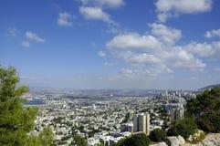 Vista de Haifa imagen de archivo