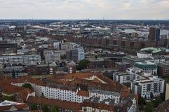 Vista de Hamburgo fotos de archivo