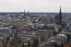 Vista de Hamburgo fotos de archivo libres de regalías