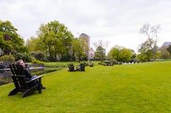 Vista de Hamburgo, Alemanha imagens de stock royalty free