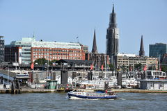 Vista de Hamburgo en Alemania Fotos de archivo