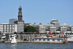 Vista de Hamburgo en Alemania Foto de archivo
