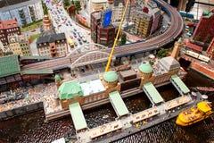 Vista de Hamburgo en miniatura Imágenes de archivo libres de regalías