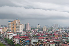 Vista de Hanoi después de la lluvia Imágenes de archivo libres de regalías