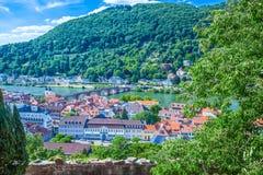 Vista de Heidelberg Imagen de archivo