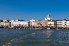 Vista de Helsinki del mar Imagen de archivo libre de regalías