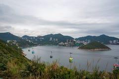 Vista de Hong Kong Ocean Park Imagem de Stock