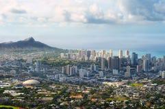 Vista de Honolulu imagen de archivo