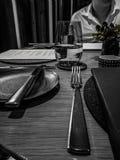 Vista de jantar fina fotografia de stock