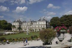 Vista de Jardin de Luxemburgo, Paris Imagens de Stock