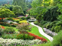 Vista de jardines Sunken Imágenes de archivo libres de regalías