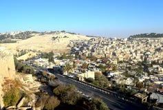 Vista de Jerusalén de la ciudad vieja Foto de archivo libre de regalías